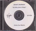 JANET JACKSON All Nite (Don't Stop) USA CD5 Test Pressing (6/11)