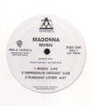 MADONNA Music USA Double LP Promo Only