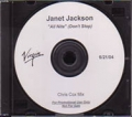 JANET JACKSON All Nite (Don't Stop) USA CD5 Test Pressing (6/21)