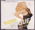 MADONNA Vogue GERMANY CD5 w/2 Tracks
