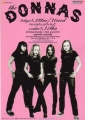 DONNAS 2000 JAPAN Promo Tour Flyer