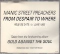 MANIC STREET PREACHERS From Despaire To Where UK CD5 Promo