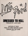 LITA FORD Dressed To Kill USA 12