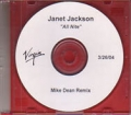 JANET JACKSON All Nite (Don`t Stop) USA CD5 Test Pressing (3/26/04)