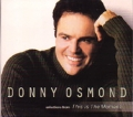 DONNY OSMOND Selection from This Is The Moment USA CD5 Promo Only w/3 Tracks