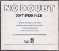NO DOUBT Don't Speak USA CD5 Promo