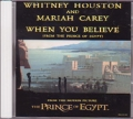 MARIAH CAREY & WHITNEY HOUSTON When You Believe USA CD5 Promo