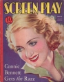 BETTE DAVIS Screen Play (3/33) USA Magazine