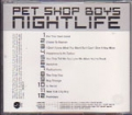 PET SHOP BOYS Nightlife USA CD Promo Only