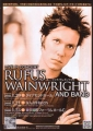 RUFUS WAINWRIGHT 2008 JAPAN Promo Tour Flyer