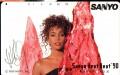 WHITNEY HOUSTON Sanyo Heat Beat '90 JAPAN Telephone Card