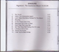 ERASURE Nightbird USA CD Acetate Test Pressing