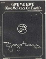 GEORGE HARRISON Give Me Love (Give Me Peace On Earth) USA Sheet Music