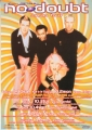 NO DOUBT 2000 JAPAN Promo Tour Flyer