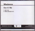 MADONNA Give It 2 Me USA CD5 Promo w/2 Versions