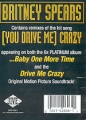 BRITNEY SPEARS (You Drive Me) Crazy USA 12