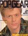 BRYAN ADAMS Popgear (1/85) JAPAN Magazine