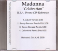 MADONNA Celebration USA CD5 Promo Only w/4 Versions
