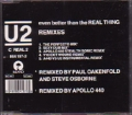 U2 Even Better Than The Real Thing Remixes UK CD5 w/5 Versions