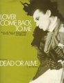 DEAD OR ALIVE Lover Come Back To Me UK Sheet Music