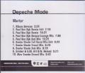 DEPECHE MODE Martyr USA CD5 Promo w/10 Versions
