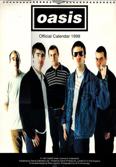 Monthly Calendar Book : Oasis uk official calendar