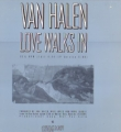 VAN HALEN Love Walks In USA 12