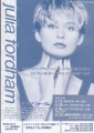 JULIA FORDHAM 1992 JAPAN Promo Tour Flyer