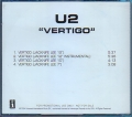 U2 Vertigo USA CD5 Promo Only w/4 Mixes