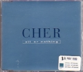 CHER All Or Nothing UK CD5 Promo w/1 Track