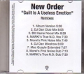 NEW ORDER Guilt Is A Useless Emotion USA CD5 Promo w/9 Remixes