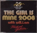 MICHAEL JACKSON The Girl Is Mine 2008 w/will.i.am EU CD5 w/3 Track