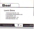 SEAL Love's Divine USA CD5 Promo w/5 Mixes