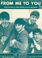 BEATLES From Me To You USA Sheet Music