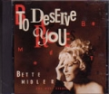 BETTE MIDLER To Deserve You USA CD5 w/Remixes