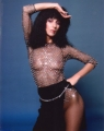 CHER Cher with black dress USA Photo