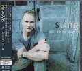 STING All This Time JAPAN CD w/3 Bonus Tracks