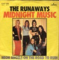 THE RUNAWAYS Midnight Music GERMANY 7