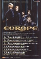 EUROPE Start From The Dark JAPAN 2005 Promo Tour Flyer