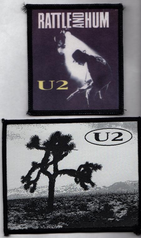 U2 Joshua Tree Rattle And Hum Eu Set Of 2 Patches