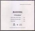 MADONNA Frozen USA CD5 Promo w/3 Versions