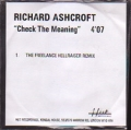 RICHARD ASHCROFT Check The Meaning UK CD5 Promo Test Pressing