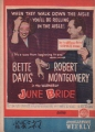 BETTE DAVIS June Bride JAPAN Movie Program
