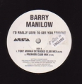 BARRY MANILOW I'd Really Love To See You Tonight UK 12