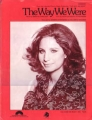 BARBRA STREISAND The Way We Were USA Sheet Music