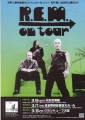R.E.M. Around The Sun JAPAN Promo Tour Flyer