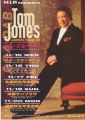 TOM JONES Japan Tour '95 JAPAN Tour Promo Flyer