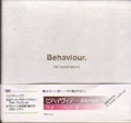 PET SHOP BOYS Behaviour JAPAN CD w/CD3+Booklet+Outer Case
