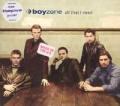 BOYZONE All That I Need UK CD5 w/Poster