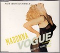 MADONNA Vogue GERMANY CD5 w/12